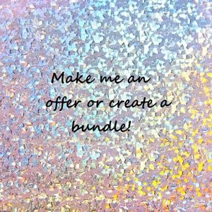 Make me an offer or create a bundle!